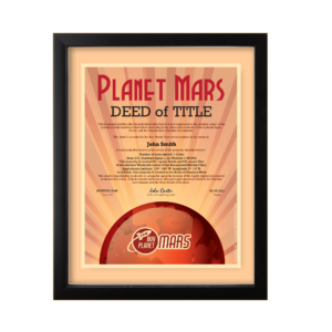 Planet Mars Land for Sale