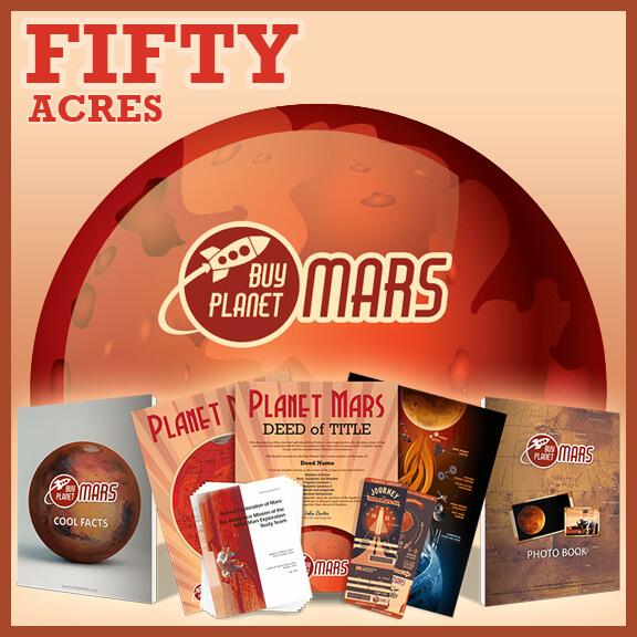 50 Acre On Planet Mars Land - BuyPlanetMars