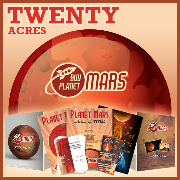 20 Planaet Mars Land Acre